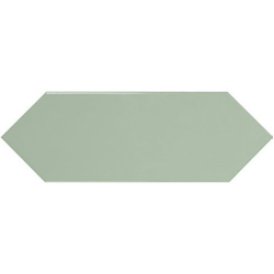 Faience navette crayon vert brillant 10x30 PICKET GREEN - 1m² Ribesalbes