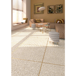 Carrelage imitation granito terrazzo 60x60 cm PORTOFINO Crema - 1.08m² Vives Azulejos y Gres