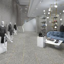 Carrelage imitation granito terrazzo 60x60 cm PORTOFINO Grafito - 1.08m² Vives Azulejos y Gres