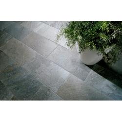 Carrelage piscine effet pierre naturelle QUARTZ SILVER 45.8x45.8 cm - 1.26m² Coem ceramiche