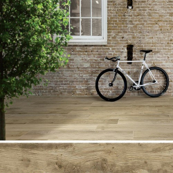 Carreau antidérapant effet bois 20x120cm WOODMANIA GRIP Honey - 0.96m²