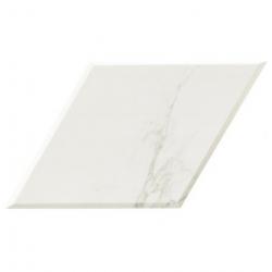 Carrelage losange blanc marbré calacatta 70x40 DIAMOND STATUARIO BEVEL - 0.98m² Realonda