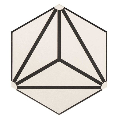 Carrelage tomette géométrique33x28.5 OSAKA WHITE - 1m² Realonda