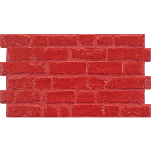 Parement mural cérame style pierre 31X56 cm MANHATTAN Rojo (rouge) - 1.21m² - zoom