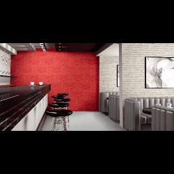 Parement mural cérame style pierre 31X56 cm MANHATTAN Rojo (rouge) - 1.21m² Realonda