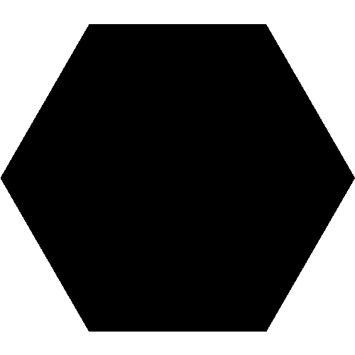 Carrelage tomette noire 33x28.5 OPAL NOIR - 1m² Realonda