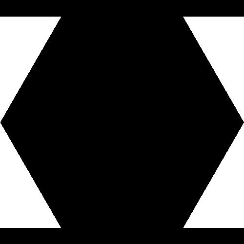 Carrelage tomette noire 33x28.5 OPAL NOIR - 1m² - zoom