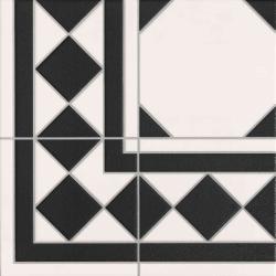 Carrelage mur et sol imitation octogonal à cabochon 33x33 cm OXFORD NEGRO - 1m² Realonda