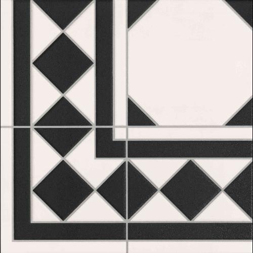 Carrelage à cabochon 33x33 cm OXFORD NEGRO ESQUINA angle - unité - zoom