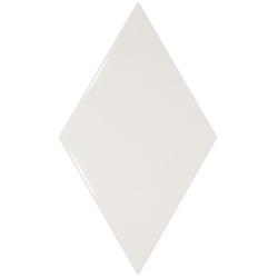 Faience losange blanc brillant 15x26cm RHOMBUS WALL WHITE 22747 - 1m²