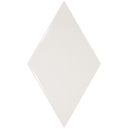 Faience losange blanc brillant 15x26cm RHOMBUS WALL WHITE 22747 - 1m² - zoom