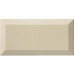 Carrelage Métro biseauté almond beige brillant 10x20 cm - 1m² Ribesalbes