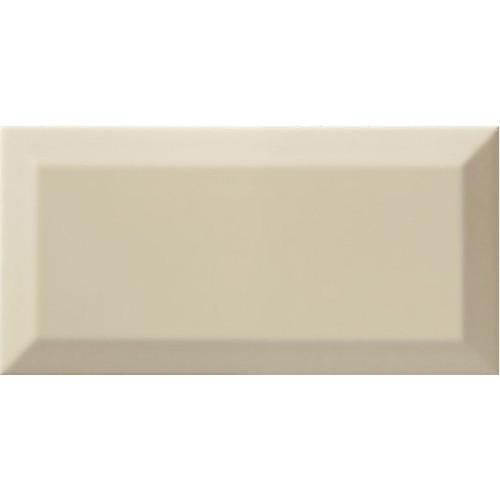 Carrelage Métro biseauté almond beige brillant 10x20 cm - 1m² - zoom