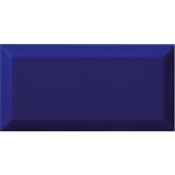 Carrelage Métro biseauté bleu foncé AZUL brillant 10x20 cm - 1m² Ribesalbes