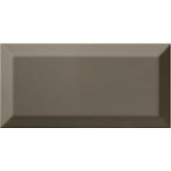 Carrelage Métro biseauté gris foncé brillant DARK GREY 10x20 cm - 1m² Ribesalbes