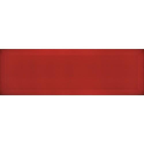 Carrelage métro biseauté rouge 10x30 cm Rojo brillant - 1.02m² Ribesalbes