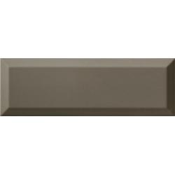 Carrelage Métro biseauté 10x30 cm gris foncé brillant - 1.02m² Ribesalbes