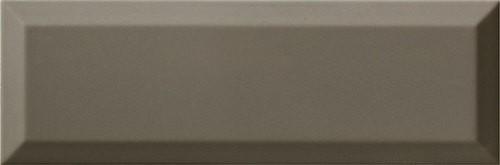 Carrelage Métro biseauté 10x30 cm gris foncé brillant - 1.02m² - zoom