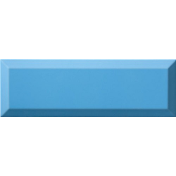 Carrelage Métro biseauté 10x30 cm mar bleu brillant - 1.02m² Ribesalbes