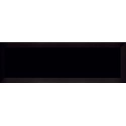 Carrelage métro biseauté 10x30 cm noir mat - 0.75m² Ribesalbes