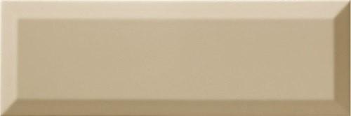 Carrelage Métro biseauté 10x30 cm olive beige brillant - 1.02m² - zoom
