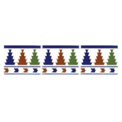 Azulejo Sevillano Frise Cenefa 1 15x20 cm - 0.9m²