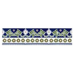 Azulejo Sevillano Frise Cenefa Jerez 15x20 cm - 0.9m²