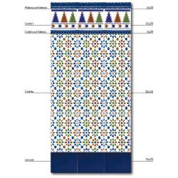 Azulejo Sevillano Liso Azul 15x20 carreau bleu marine - 0.9m² Ribesalbes