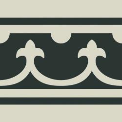 Carrelage imitation ciment bordure décor blanc 20x20 cm PASION CENEFA BLANCO - unité Ribesalbes