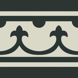 Carrelage imitation ciment bordure décor noir 20x20 cm PASION CENEFA NEGRO - unité Ribesalbes