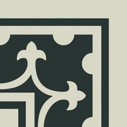 Carrelage imitation ciment coin décor blanc 20x20 cm PASION ESQUINA BLANCO - unité