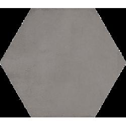 Carrelage hexagonal tomette décor anthracite 23x26.6cm BAMPTON GRAFITO - 0.50m²