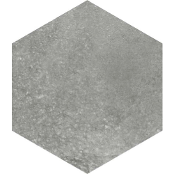 Carrelage hexagonal tomette anthracite vieillie 23x26.6cm RIFT Grafito - 0.504m²