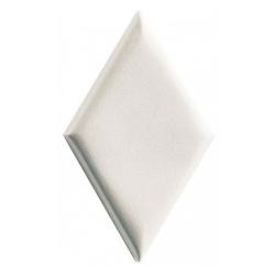Carrelage mini-losange blanc à relief 15x8.5cm ROMBO14 FARINA BORDS BOMBES - 0.20m² Natucer