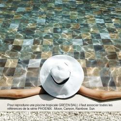 Carrelage piscine effet pierre naturelle PHOENIX CANYON 14.8x14.8 cm - 0.70m² Saime