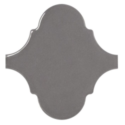 Carreau gris foncé brillant 12x12cm SCALE ALHAMBRA DARK GREY - 0.43m²