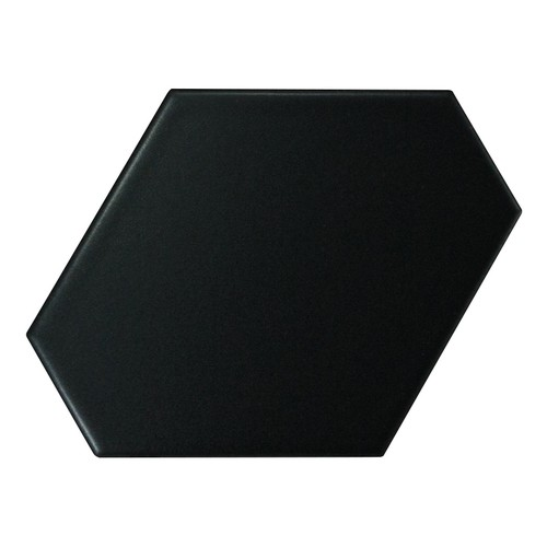 Carreau noir mat 10.8x12.4cm SCALE BENZENE BLACK MATT - 23832 - 0.44m² - zoom