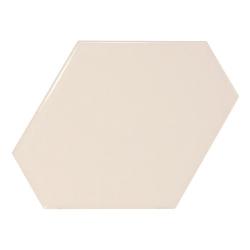 Carreau crème brillant 10.8x12.4cm SCALE BENZENE CREAM - 23826 - 0.44m² Equipe