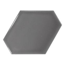Carreau gris foncé brillant 10.8x12.4cm SCALE BENZENE DARK GREY - 23829 - 0.44m² Equipe