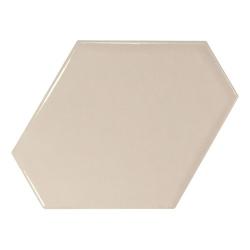 Carreau beige brillant 10.8x12.4cm SCALE BENZENE GREIGE - 23827 - 0.44m²