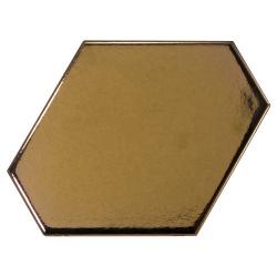 Carreau or métallisé 10.8x12.4cm SCALE BENZENE METALLIC - 23835 - 0.44m² Equipe