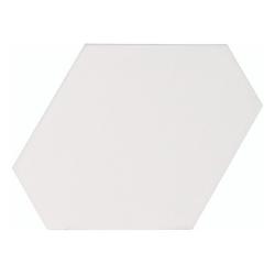 Carreau blanc mat 10.8x12.4cm SCALE BENZENE WHITE MATT - 23824 - 0.44m²