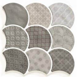 Carreau écaille gris 30.7x30.7 SCALE BOHO GREY - 0.85m²