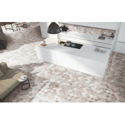 Carreau écaille blanc 30.7x30.7 SCALE BOHO WHITE - 0.85m² Realonda