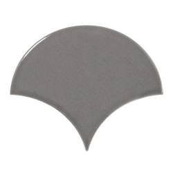 Carreau gris foncé brillant 10.6x12cm SCALE FAN DARK GREY - 0.37m²