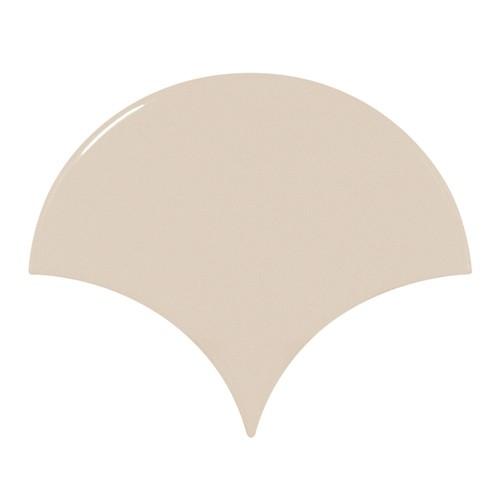 Carreau beige brillant 10.6x12cm SCALE FAN GREIGE - 0.37m² - zoom