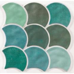 Carreau écaille vert 30x30 SCALE GARDEN - 0.85m²