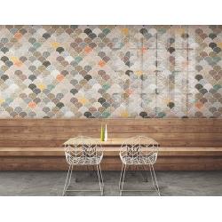 Carreau écailles décorées brillantes 30x30 SCALE GLOSS PATCHWORK - 0.85m² Realonda