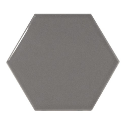 Carreau gris foncé brillant 12.4x10.7cm SCALE HEXAGON DARK GREY 21913 - 0.61m²