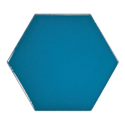 Carreau bleu électrique 12.4x10.7cm SCALE HEXAGON ELECTRIC BLUE 23836 - 0.61m² - zoom